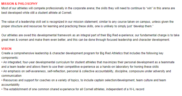 Big Red Leadership Mission and Vision